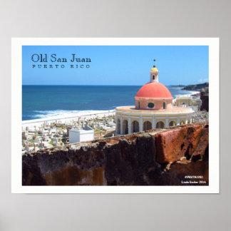 San Juan velho pelo poster do mar