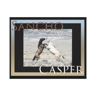 Sancho e envoltório das canvas de Casper