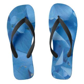 Sandália azul do Hydrangea