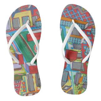 """Sandálias """"blocos de apartamentos """" do falhanço de"""