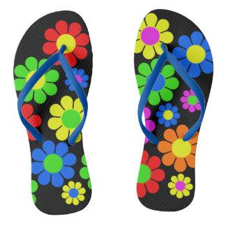 Sandálias da flor do hippy