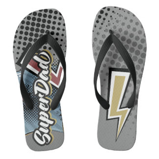 Sandálias da praia do presente do dia dos pais de
