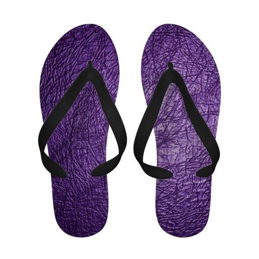 sandálias de couro roxas da textura chinelo