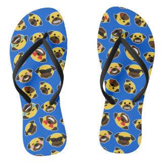 Sandálias de Emojis dos Emoticons do Pug