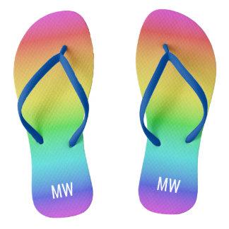 Sandálias feitas sob encomenda do monograma do