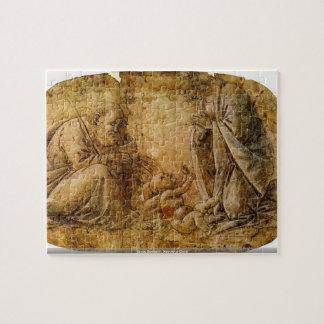 Sando Botticelli - natividade do cristo Quebra-cabeças