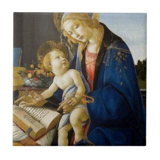 Sandro Botticelli - o Virgin e a criança Azulejo Quadrado Pequeno