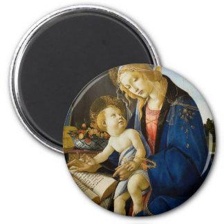 Sandro Botticelli - o Virgin e a criança Ímã Redondo 5.08cm