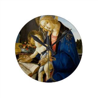 Sandro Botticelli - o Virgin e a criança Relógio Para Parede