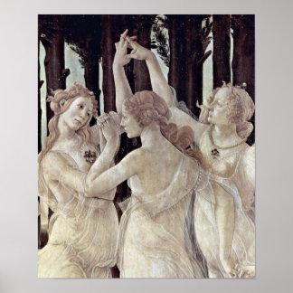 Sandro Botticelli - três benevolências Pôster