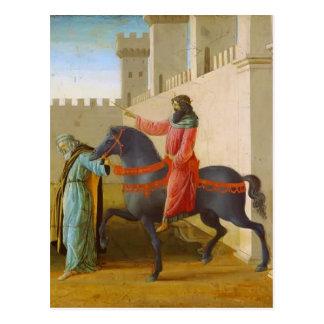 Sandro Botticelli- Triumph de Mordecai Cartao Postal