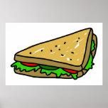 Sanduíche da salada posters