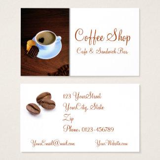 Sanduíche do café da cafetaria - cartão de visita