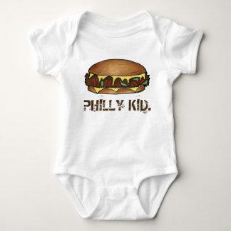 Sanduíche do Cheesesteak do PA de Philadelphfia do Body Para Bebê