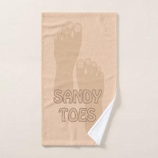 Sandy Toes a toalha de mão da casa de praia