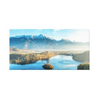 Sangrado, canvas da paisagem de Slovenia