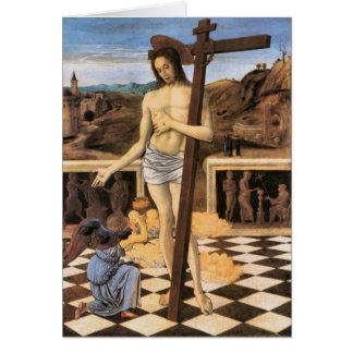 Sangue de Jesus do cartão religioso do redentor
