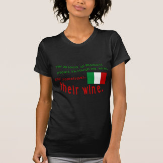 Sangue italiano & vinho 2 camiseta