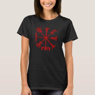 Sangue Vegvísir vermelho (compasso de Viking) Camiseta