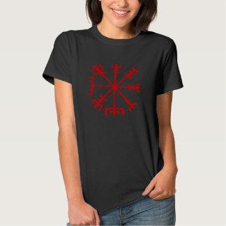 Sangue Vegvísir vermelho (compasso de Viking) Tshirt