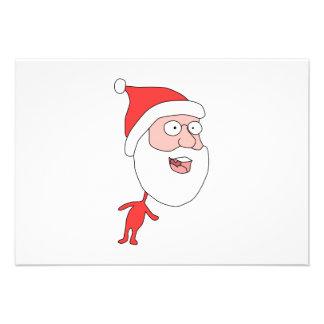 Santa engraçada convite