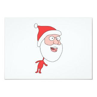 Santa engraçada convite 8.89 x 12.7cm