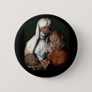 Santo Anne que admira o bebê Jesus Bóton Redondo 5.08cm