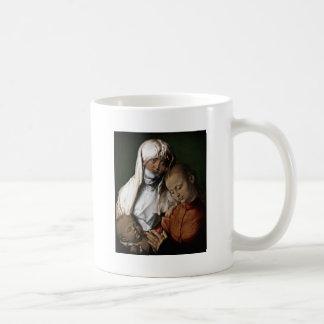 Santo Anne que admira o bebê Jesus Caneca De Café