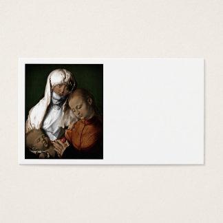 Santo Anne que admira o bebê Jesus Cartão De Visitas