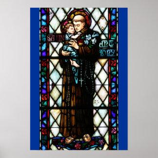 Santo Anthony de Pádua que guardara uma criança Pôster