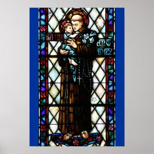 Santo Anthony de Pádua que guardara uma criança Impressão