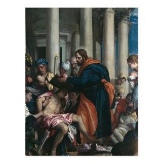 Santo Barnabas de Paolo Veronese- que cura o doent Cartões Postais