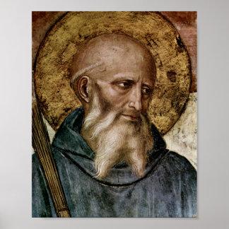 Santo Benedict Poster