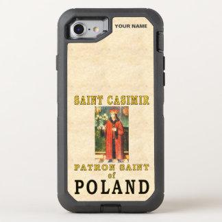 SANTO CASIMIRO (santo padroeiro do Polônia) Capa Para iPhone 8/7 OtterBox Defender