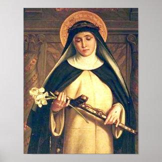 Santo Catherine do poster de Siena