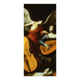 Santo Cecilia e o anjo por Carlo Saraceni 10.16 X 22.86cm Panfleto