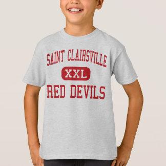 Santo Clairsville - diabos vermelhos - santo Camiseta