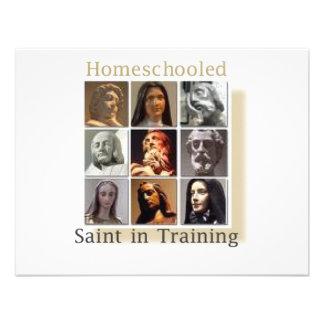 Santo de Homeschool no treinamento Convite Personalizados