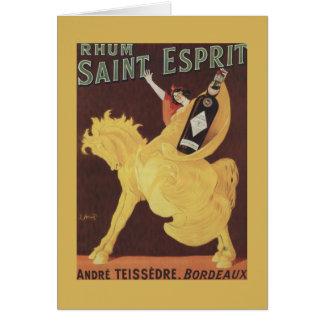 Santo Esprit de Rhum - Promo de Andre Teissedre Cartão Comemorativo