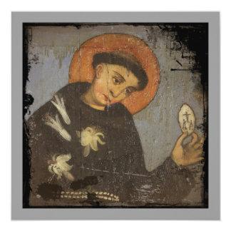 Santo Francis com lírios brancos Convite
