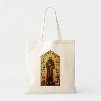 Santo Francis da iconografia medieval de Assissi Bolsas Para Compras