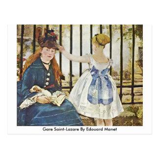 Santo-Lazare de Gare por Edouard Manet Cartões Postais