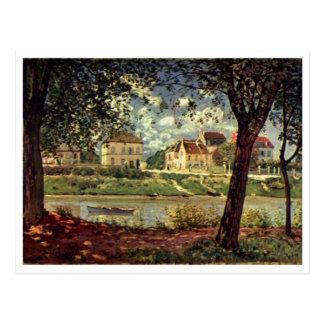 Santo-Mammès 1884 do bei de Alfred Sisley - de Sei Cartao Postal