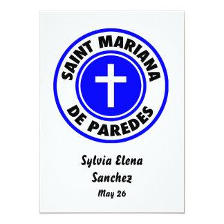 Santo Mariana De Paredes Convite 12.7 X 17.78cm
