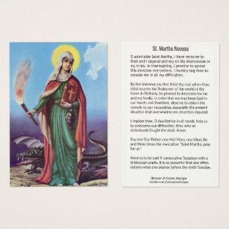 Santo Martha CARTÃO SANTAMENTE de NOVE SEMANAS
