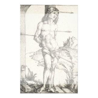 Santo Sebastian amarrado a uma coluna por Albrecht Panfleto Personalizados