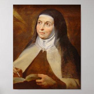 Santo Teresa do poster de Avila