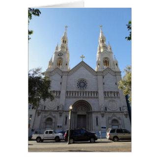 Santos Peter & cartão da igreja de Paul