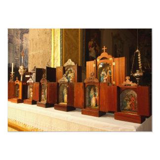 Santuários santamente da família convite 12.7 x 17.78cm