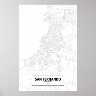 São Fernando, Trinidad and Tobago (preto no Pôster